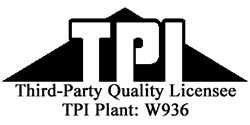 Member of the TPI Quality Control Program Since 2000
